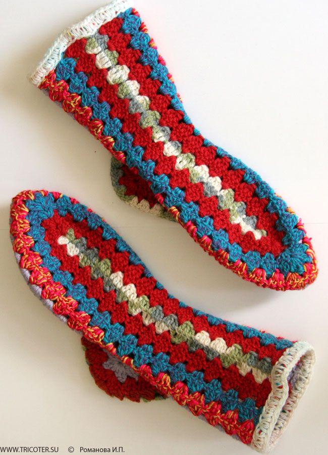 Socken häkeln Schema - crochet socks - Носки (Модель 20) | Häkeln ...