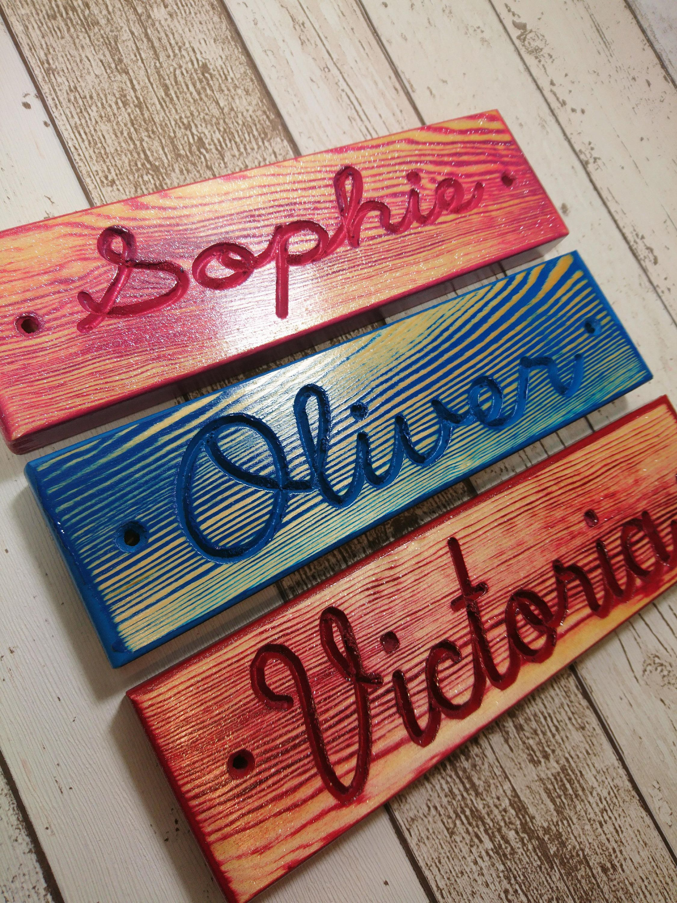 Nursery Name Sign, Baby Name Sign, Wooden Name Plaque