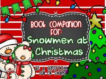 Snowmen At Christmas.Snowmen At Christmas Book Companion Holiday Christmas