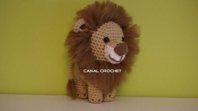 Crochet Amigurumi Lion Patterns : León amigurumi patrón gratis en español y con videotutorial