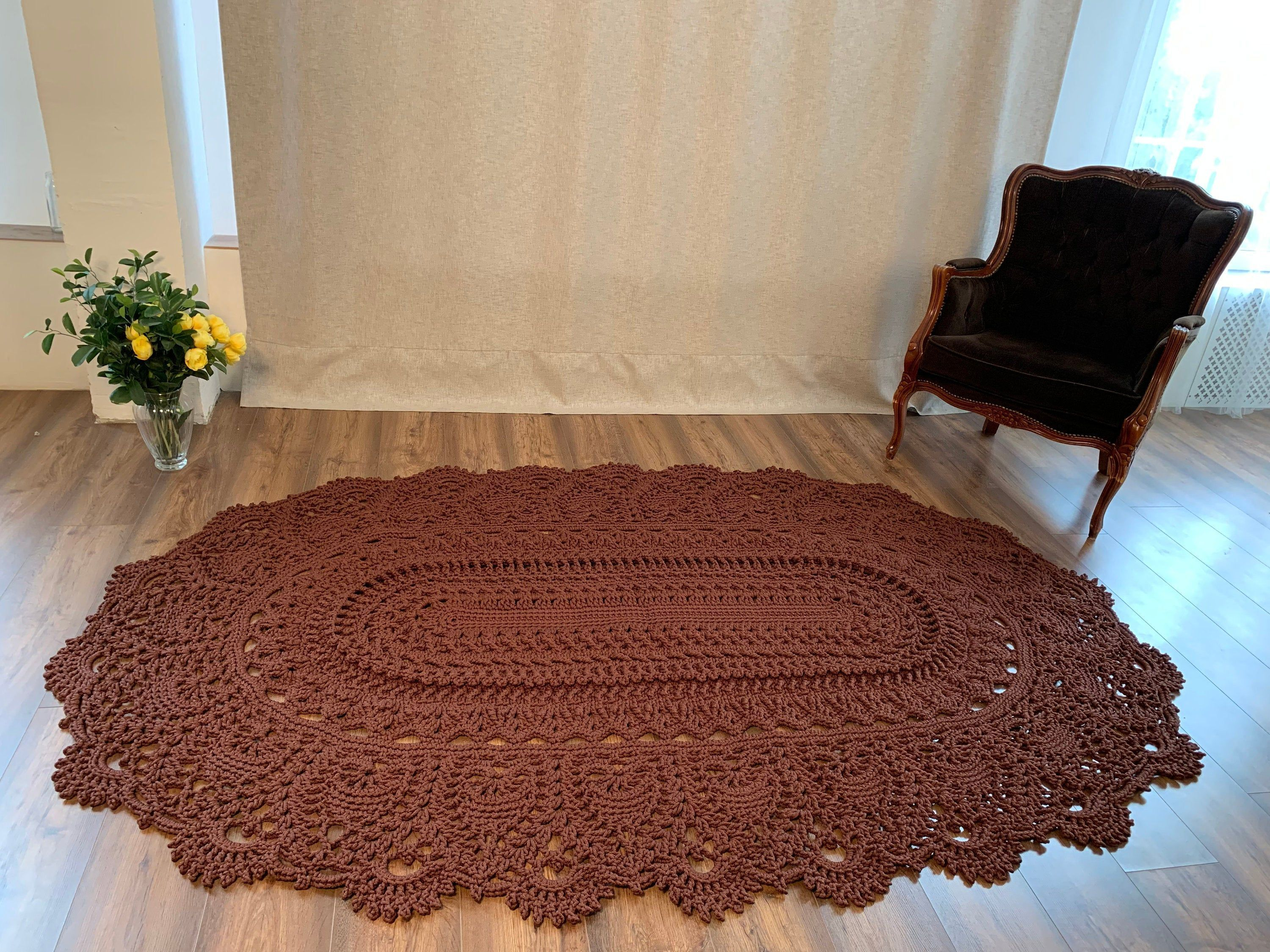 Oval Area Rugs Bedroom Decor Large Floor Rugs Modern Rug Knitted