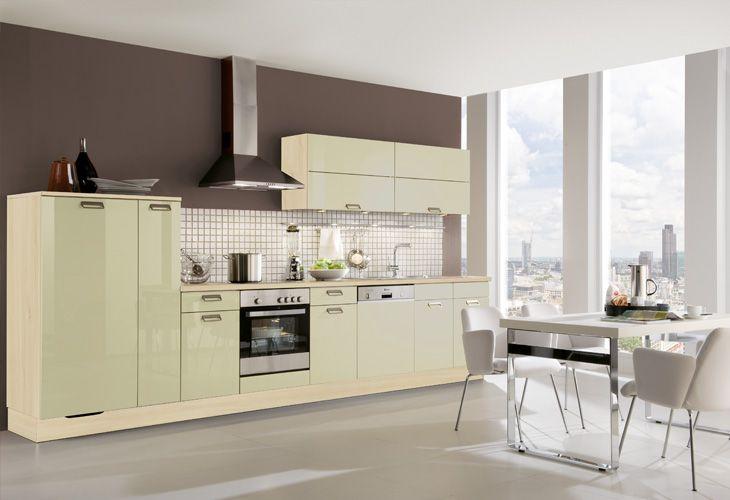 Küche in Grün #Küchenzeile www.dyk360-kuechen.de   Grüne Küchen ...