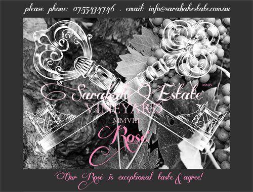 Sarabah's Top Model - http://www.sarabahestate.com.au/products-page/wine/venus-rose%e2%80%99-2008/