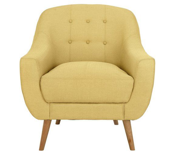 buy hygena lexie fabric chair lemon yellow at. Black Bedroom Furniture Sets. Home Design Ideas