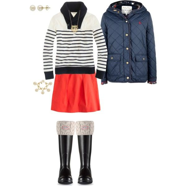 """Navy stripes & red"" by maomi on Polyvore"
