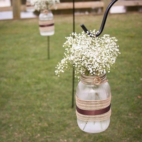 Fun Fact Baby S Breath Is Not Only Beautiful To Look At It S Also One Of The Most Affordable Flowers You Wedding Jars Mason Jar Wedding Fall Wedding Flowers