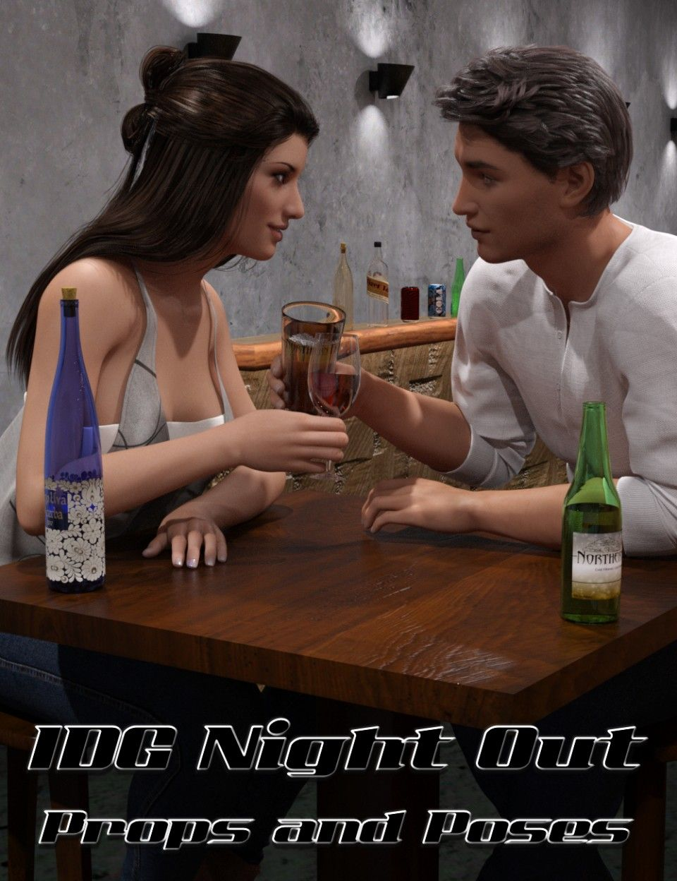 IDG Night Out Props and Poses | Daz Poser | Studio, Poses, Store