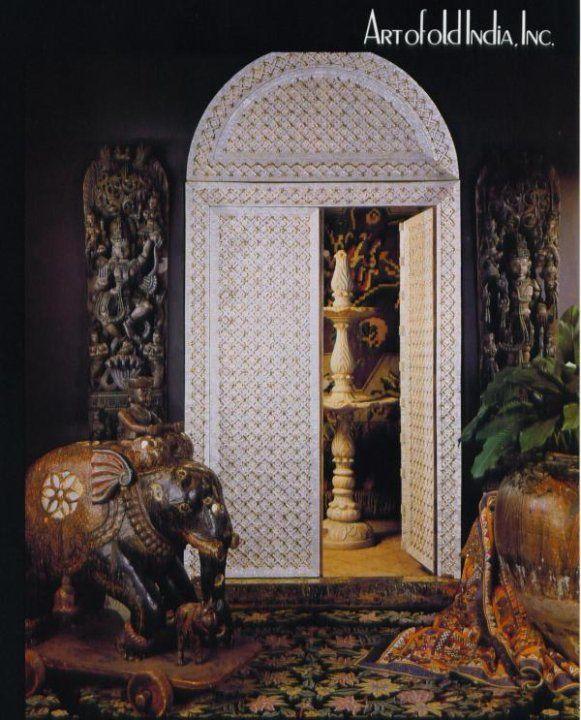 Antiques Doors At Art Of Olde India, Dallas, TX