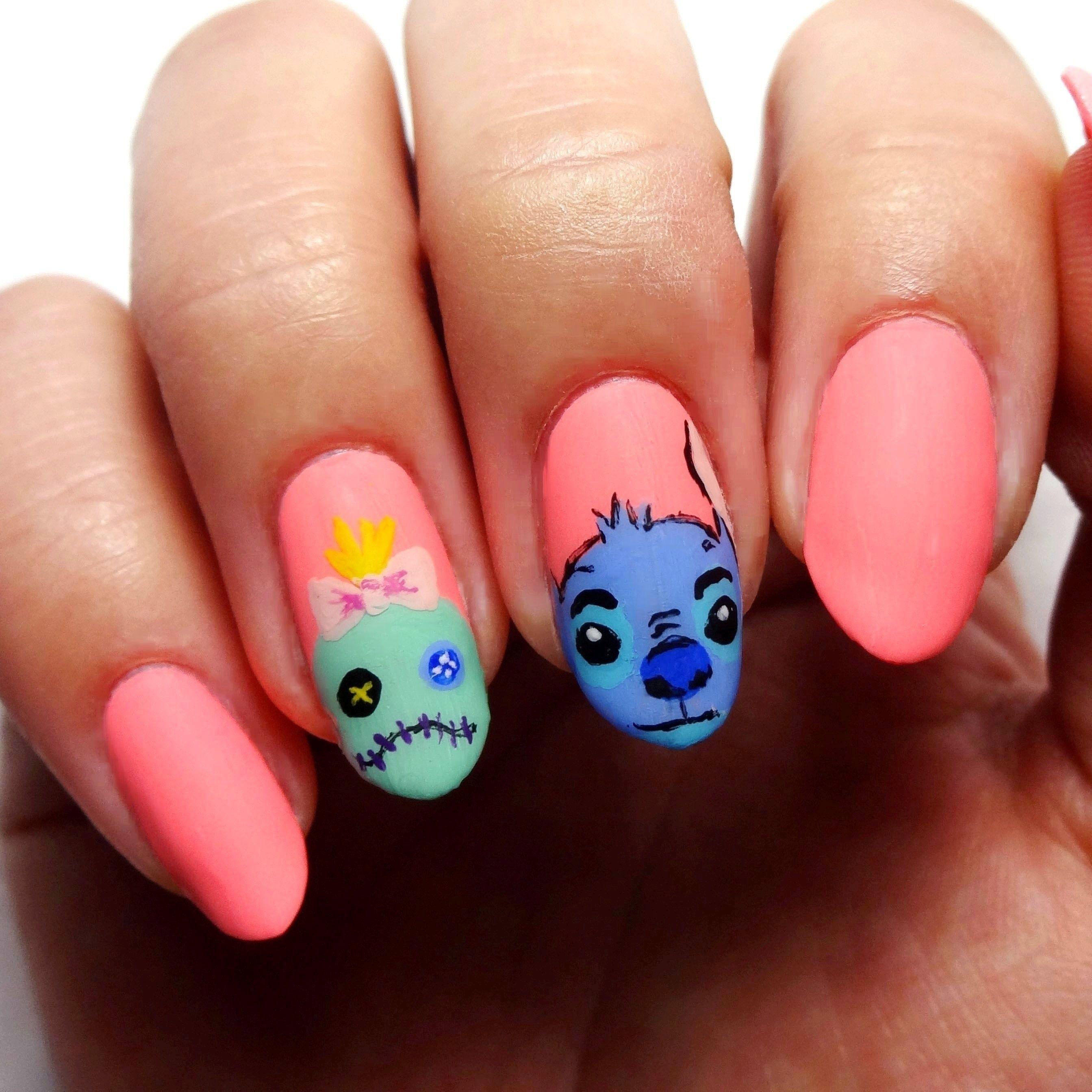 Nail Art Stitch: Yellow Nail Art, Nail Art Disney, Nail