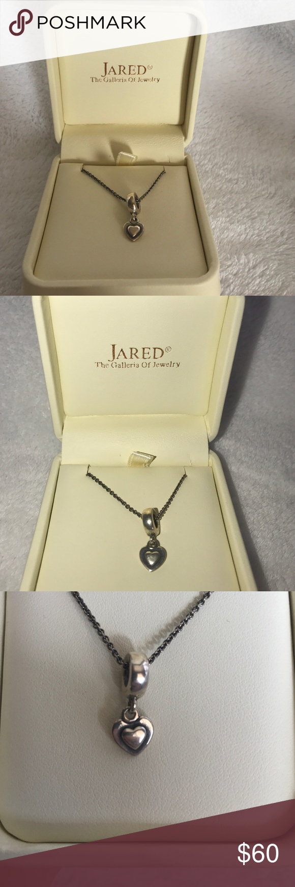 new in box Jared Necklace Heart charm Jewlery and Box