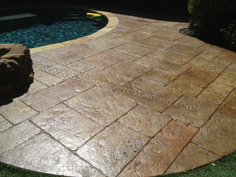 Exceptional Stamped Concrete Pool Deck Frisco, TX