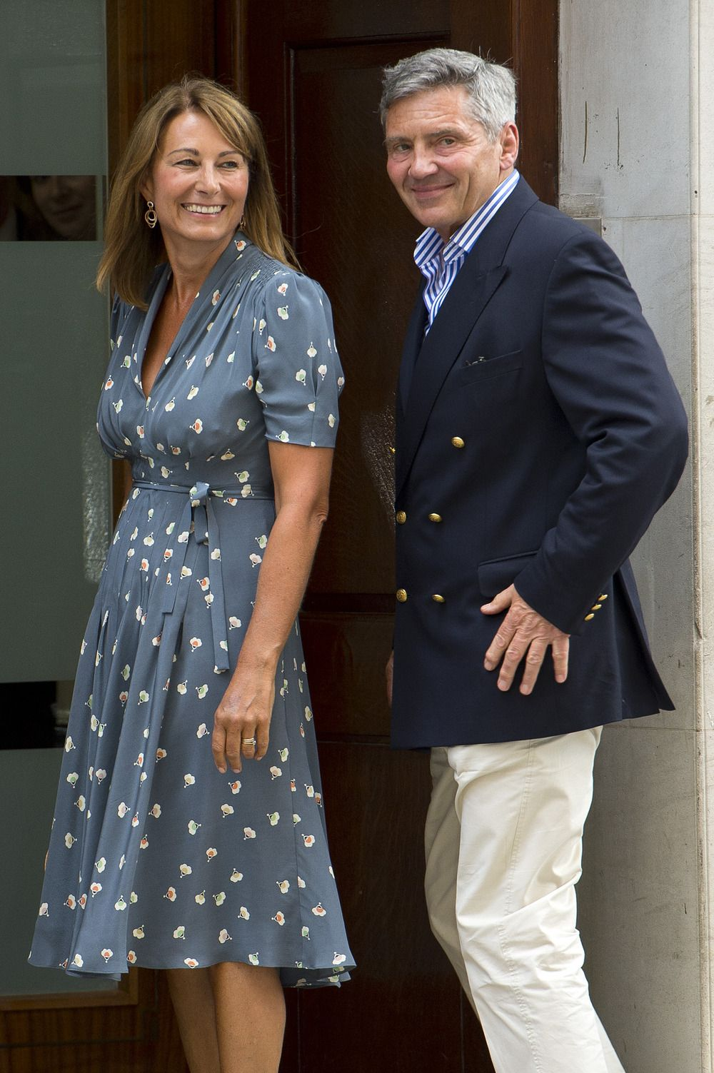 "Kate Middleton's Mom Carole Beams After First Visit With Royal Baby: ""He's Absolutely Beautiful"""