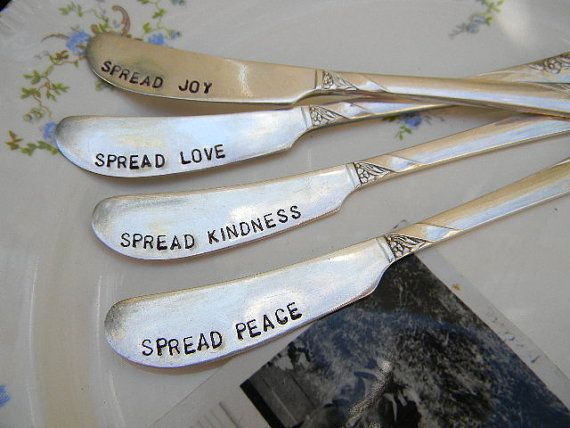 Great gift idea    Peace and Love Spread a little with this hand by PrettyParis, $36.99