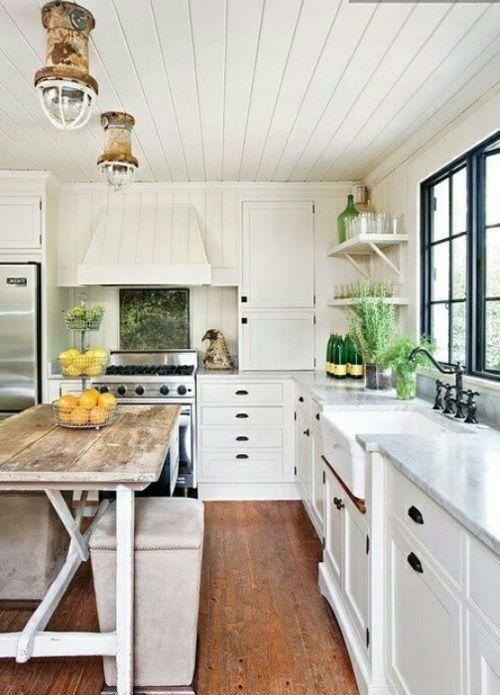 Küche im Landhausstil gestalten Modern rustic kitchens, Rustic - küche landhaus weiß