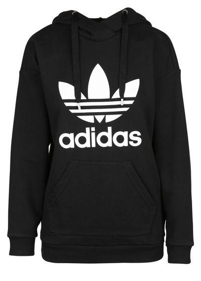 Sweat à capuche sérigraphié en coton Noir by ADIDAS   Adidas in 2018 ... a3520cbb8332