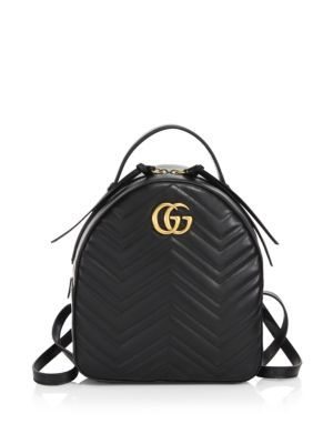GUCCI Gg Marmont Chevron Quilted Leather Mini Backpack.  gucci  bags   lining  backpacks  suede   5cfe4b5cdf7e6