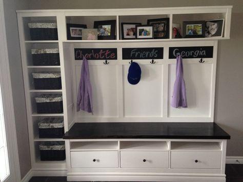 hemnes entryway hack flur flure schmales regal und hemnes. Black Bedroom Furniture Sets. Home Design Ideas