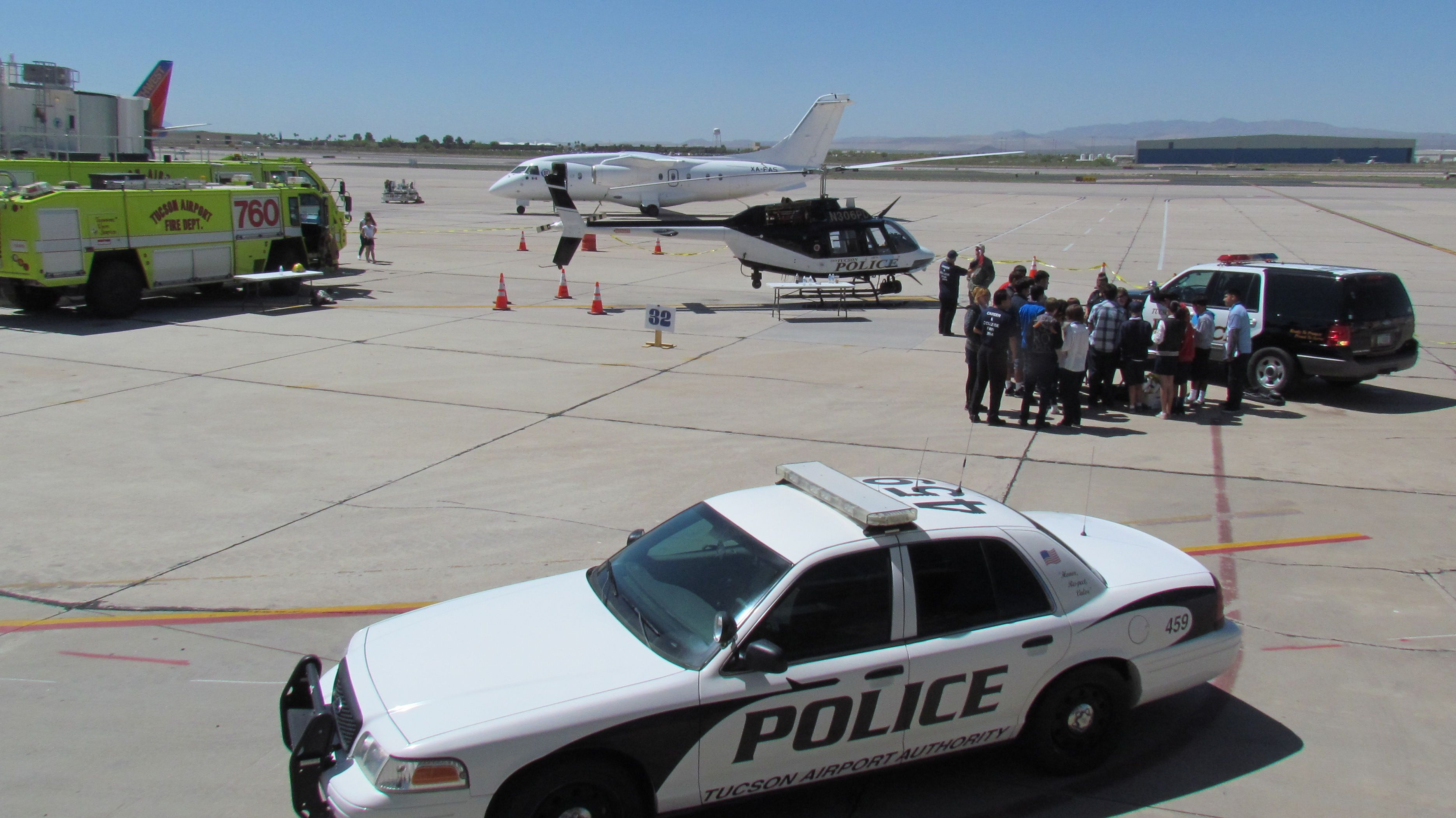 Career expo at tucson airport april 2014 police department