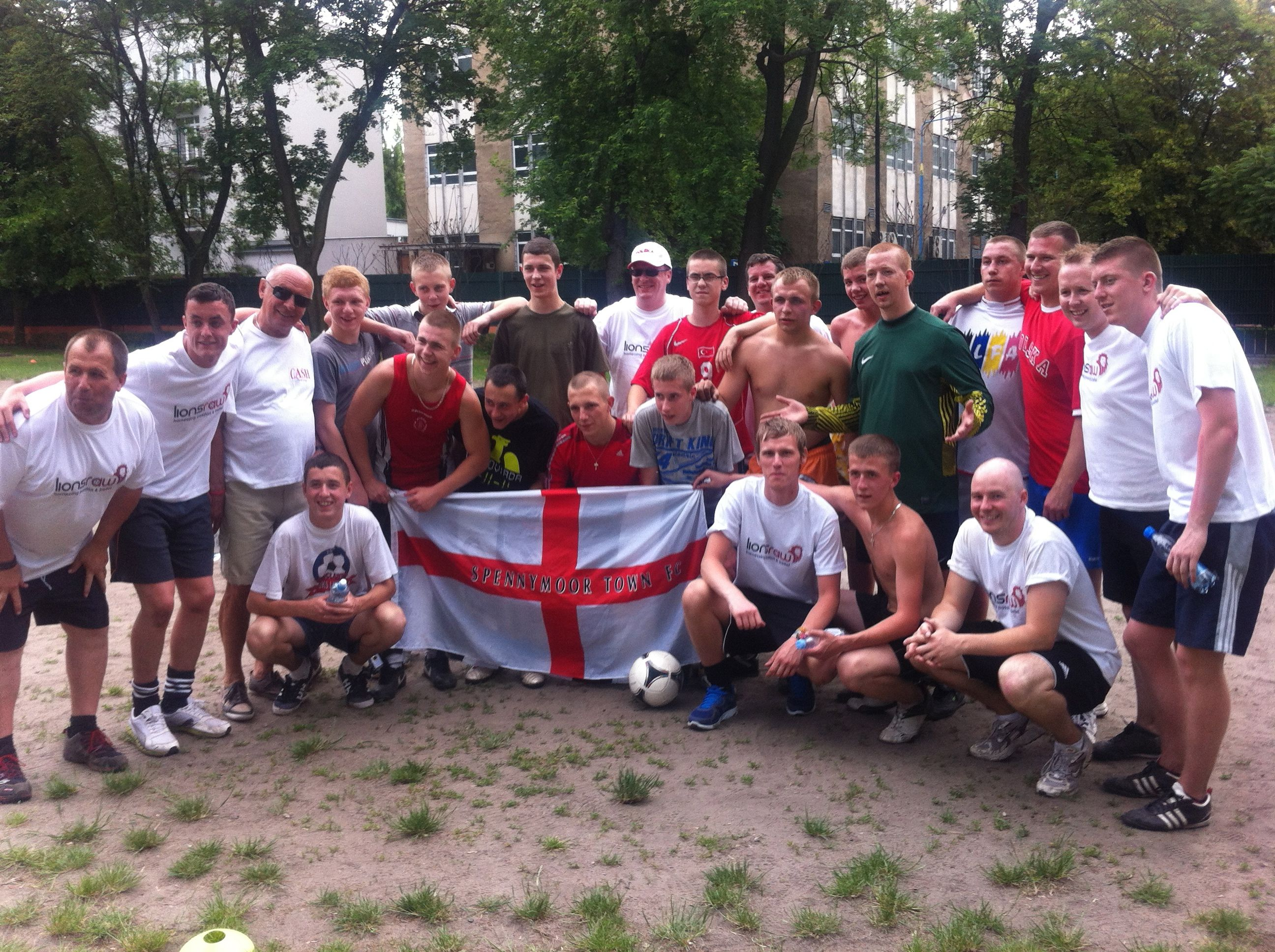 The Lionsraw Team deliver work in Young Offender Units in Warsaw, using the Football for Social change. 2012.