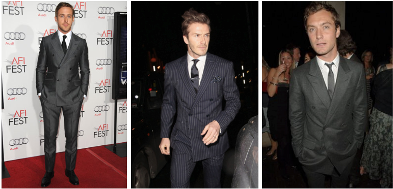 David Beckham, Jude Law, Ryan Gosling http://www.styleschool.co.uk ...