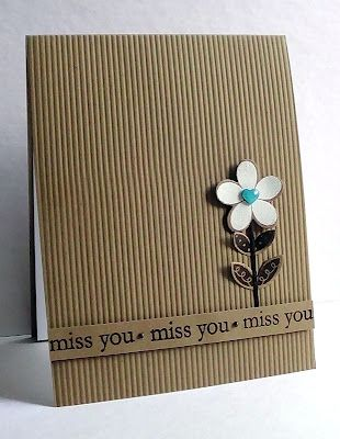Love the corrugated card front. Courtesy of I'm in Haven, Lisa A.  *p.s., This site has lots of nice CAS cards.  (Jan'13)