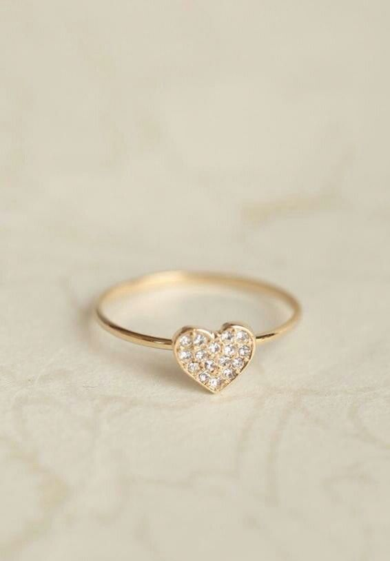 Small heart ring accessorize it Pinterest