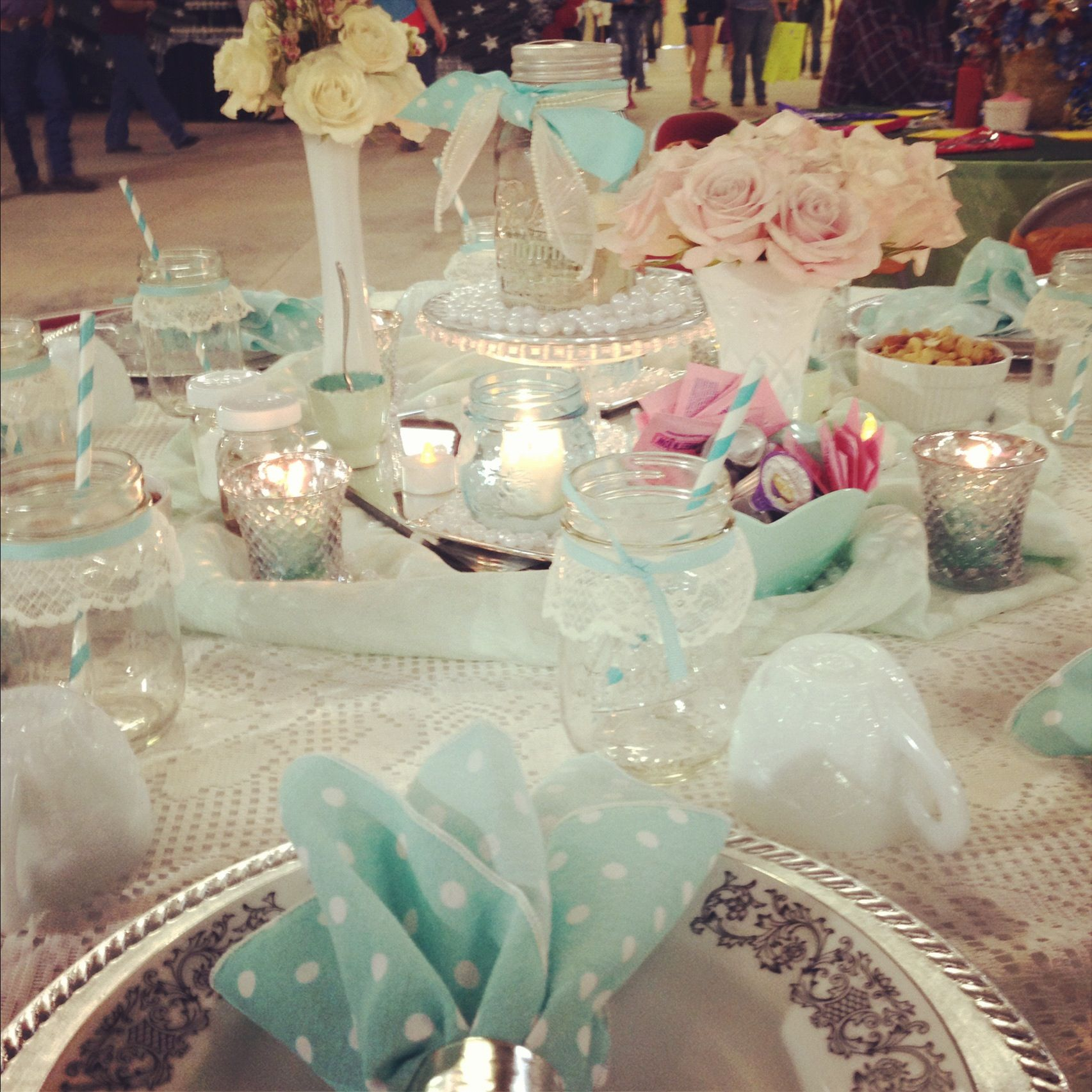 Pearl Wedding Decoration Ideas: Lace Table Decorations , Pearl Table Decorations