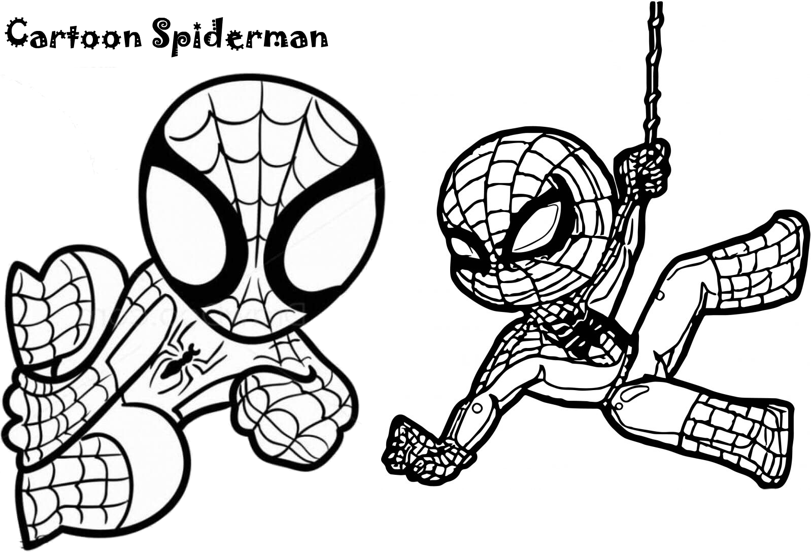 20 Coloring Pictures Of Spiderman Superhero Spider Man