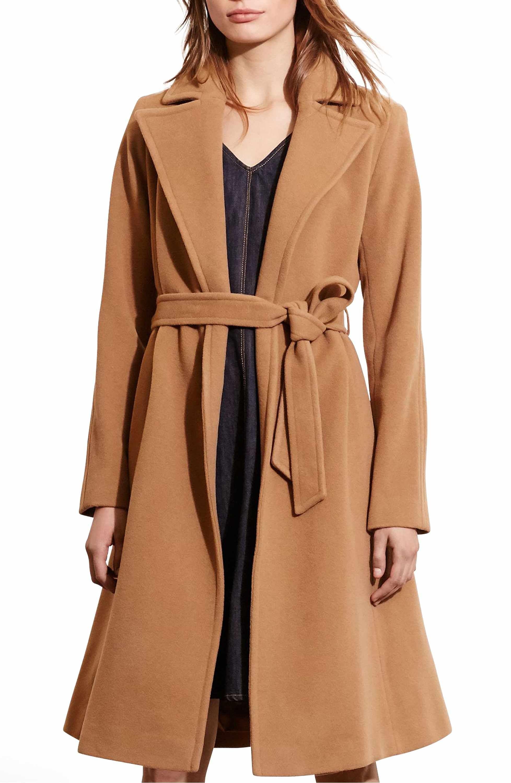 febe7169e544 Main Image - Lauren Ralph Lauren Wool Blend Wrap Coat (Regular   Petite)  (Online Only)
