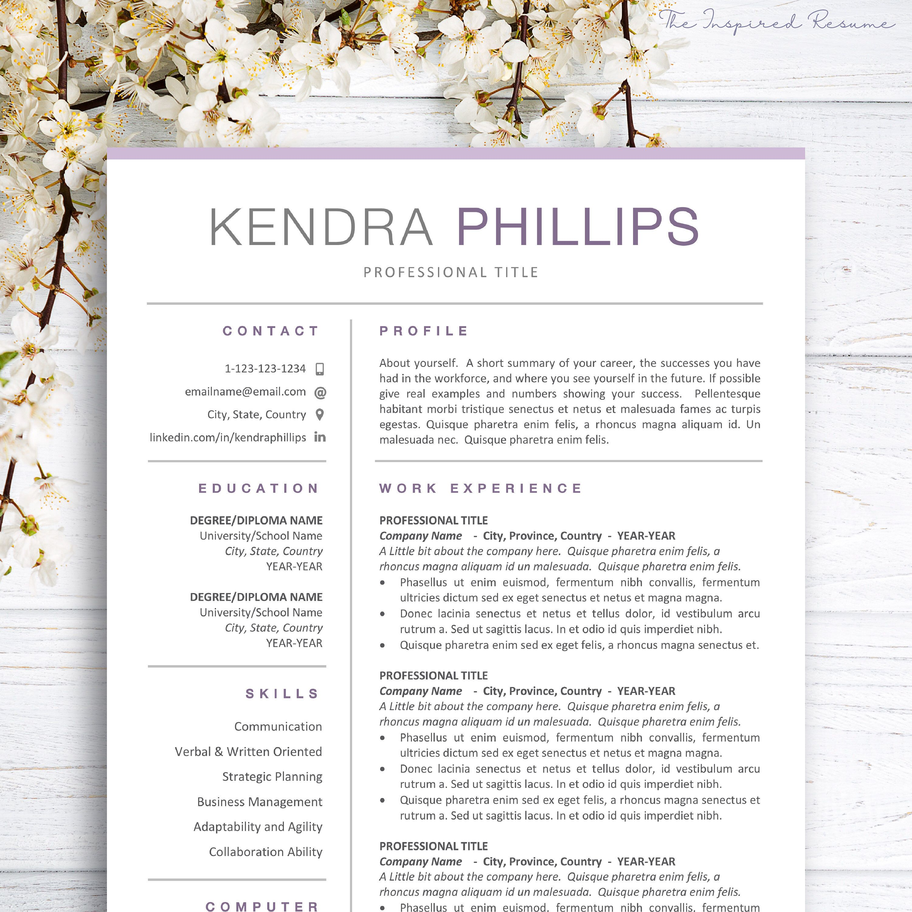 simple resume template word  resume and cover letter