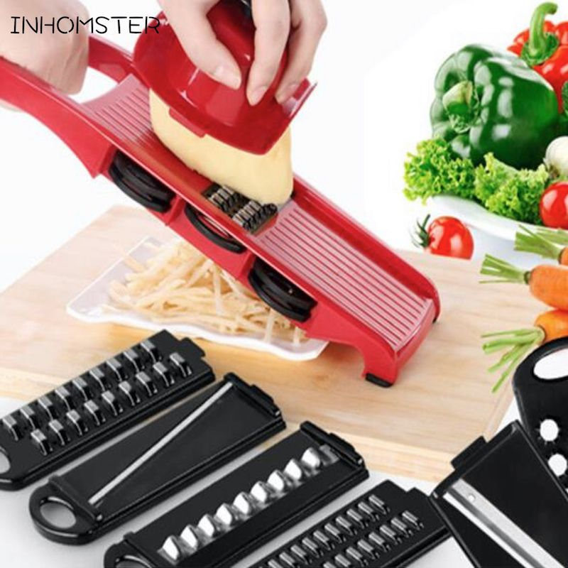 Free Shipping 6 Piece Blades Mandoline Slicer  1 Julienne Peeler Amusing Kitchen Mandoline Inspiration Design