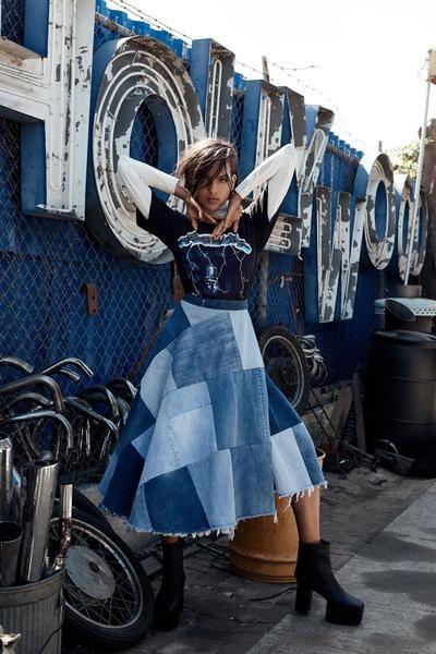 Modest Patchwork Denim Skirt