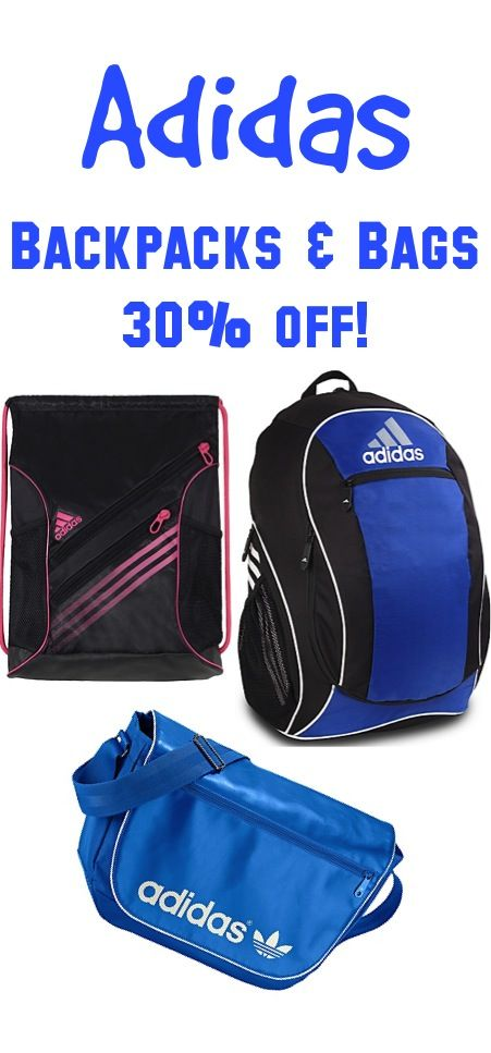 3f1010ae32 Adidas Backpacks and Bags Sale ~ 30% off! #backtoschool | Coupons ...