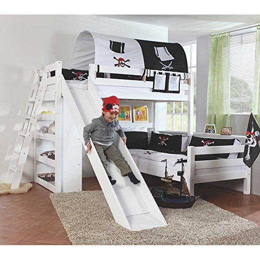 Schon Tolles Etagenbett Fürs Kinderzimmer. Das Kinderbett Für Zwei Kinder  Begeistert Grosse Und Kleine Jungs.