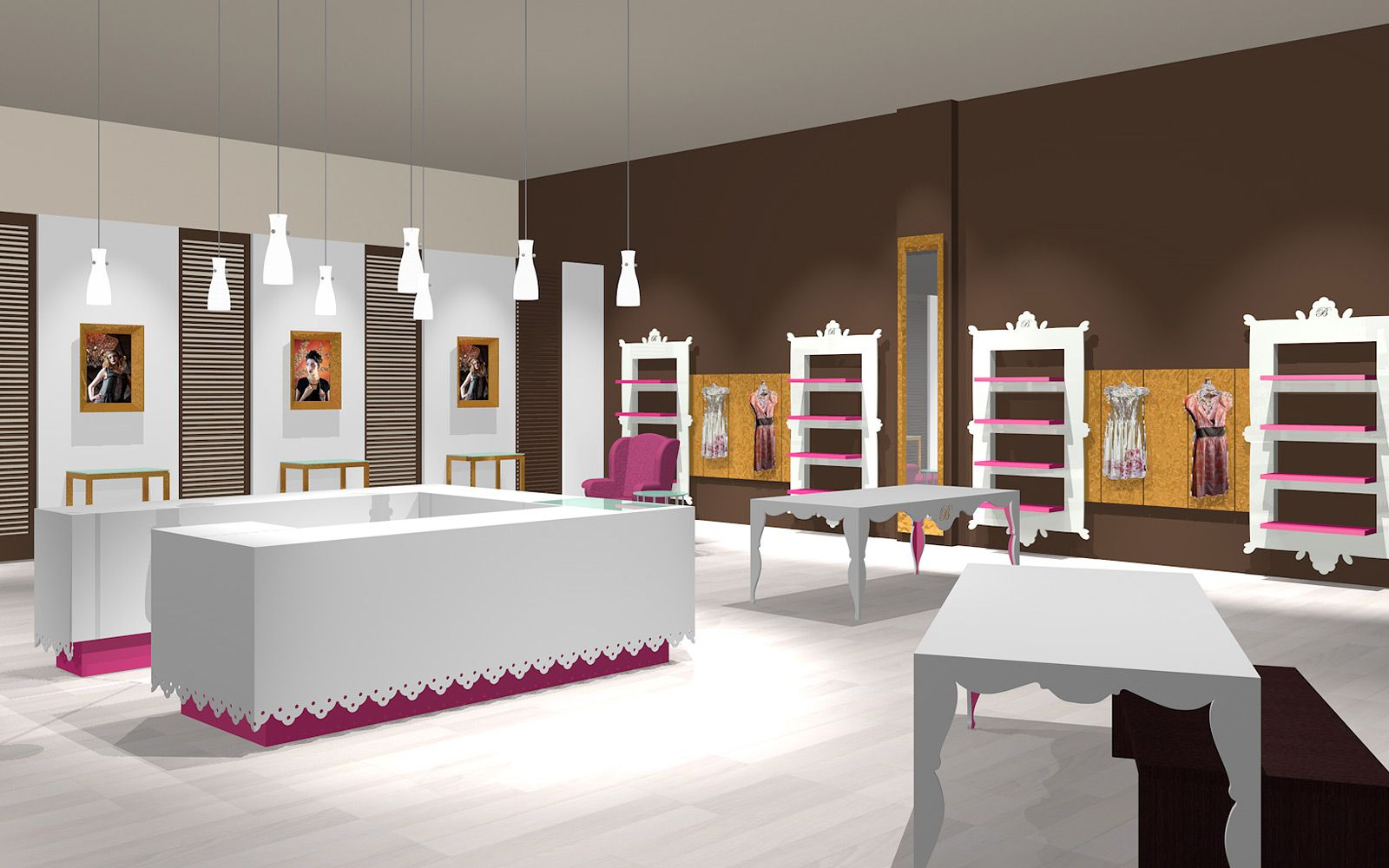 retail interior design and style interior design