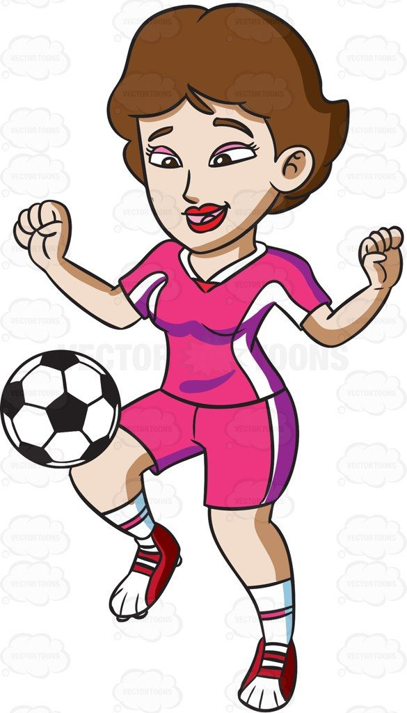 A Female Athlete Knee Dribbling The Ball Female Athletes Hexagon Pattern Athlete