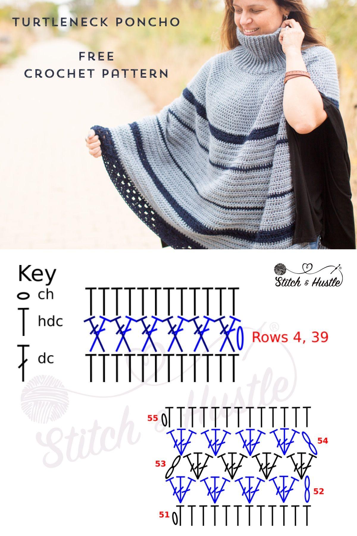 The Montana Poncho Crochet Pattern   bordado y tejido   Pinterest ...