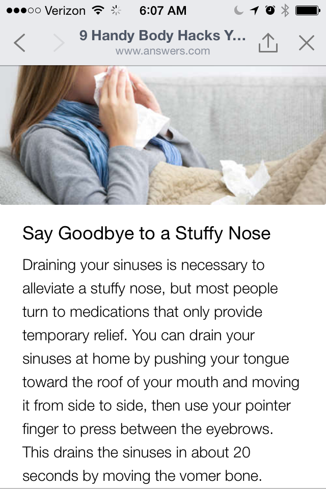 getting rid of a stuffy nose health beauty pinterest life