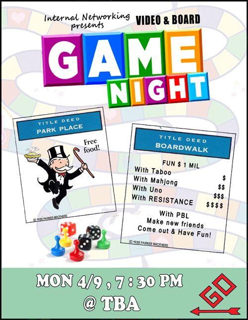 Game Night Flyer Game Night/Party Game night parties, Game night