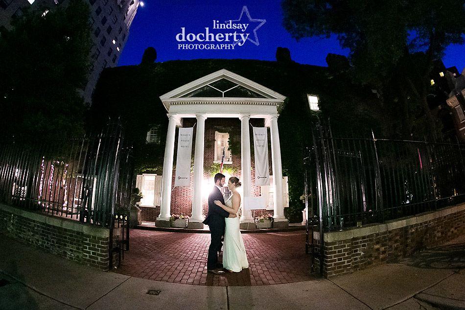night shot at Morris House Hotel Wedding | lindsaydocherty.com | Philadelphia wedding photographer