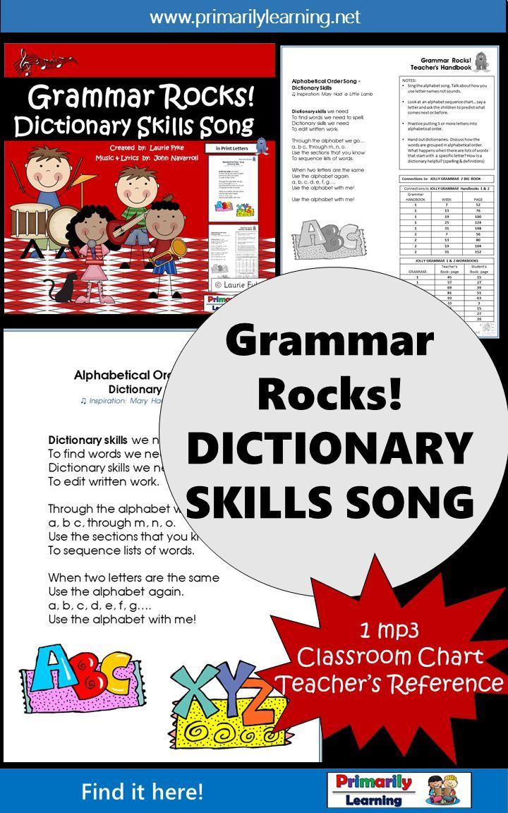 Dictionary Skills Practice Song FREE   EDUCATOR   Dictionary skills