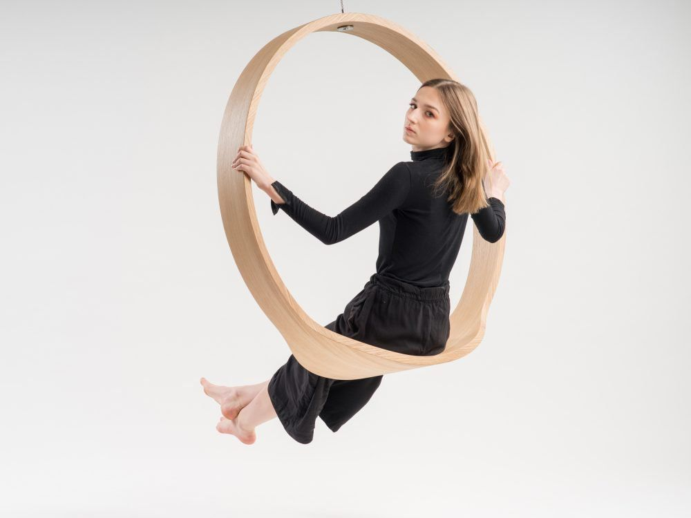 Wooden Circle Swing Model N 1 Acts As A Contemporary Rocking Chair Rocking Chair Swinging Chair Contemporary