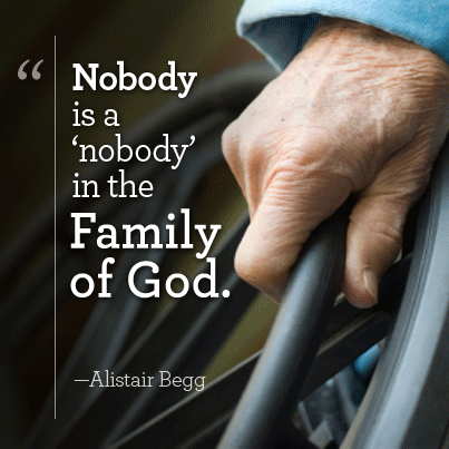 Nobody Is A Nobody In The Family Of God Alistair Bogg Amen