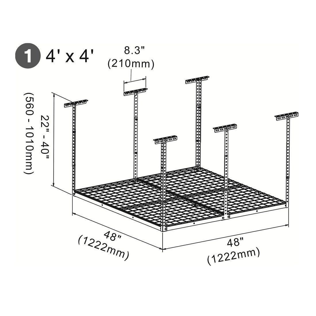 Amazon Com Fleximounts 2x8 4x4 Overhead Garage Storage Rack