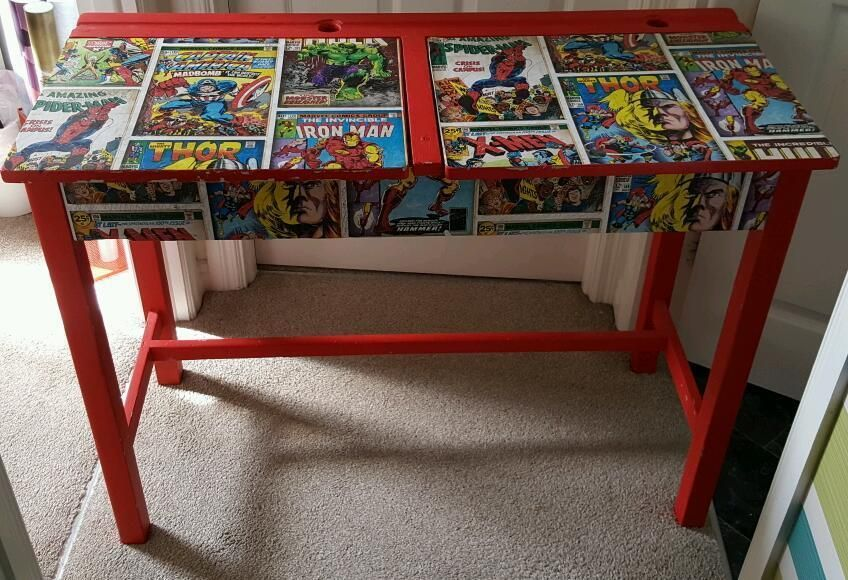 Image result for upcycled double school desk school