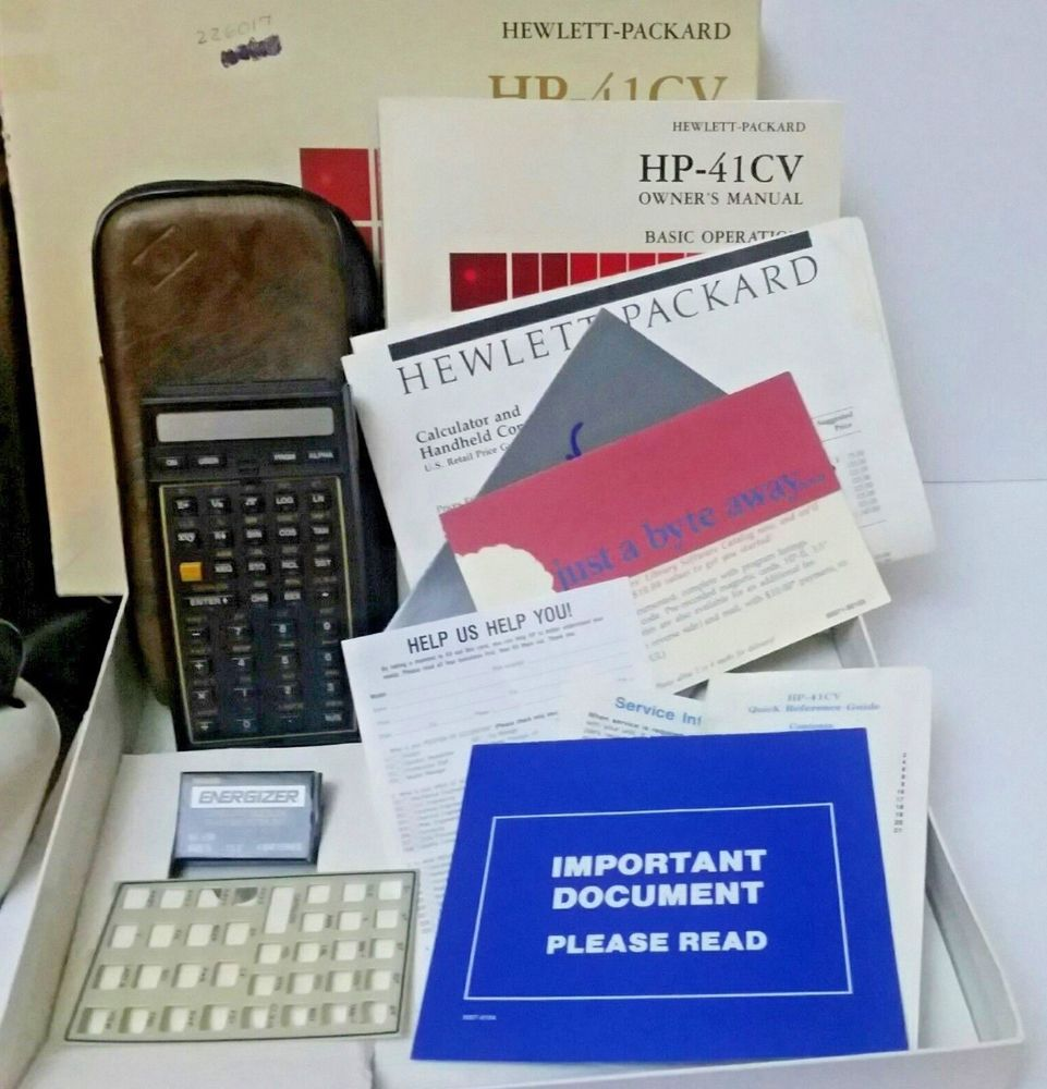 hp41 cv vintage calculator