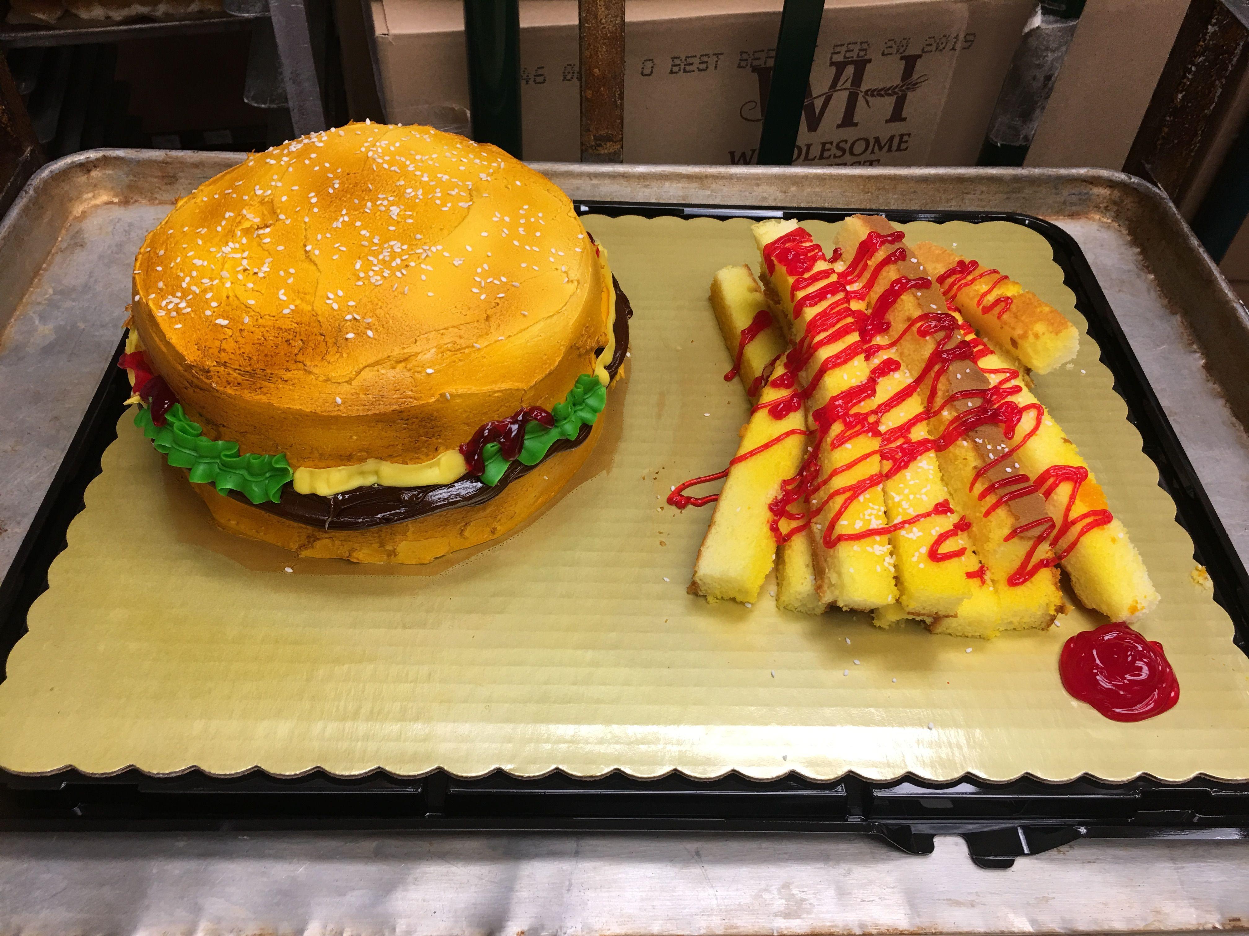 Hamburger And French Fry Cake