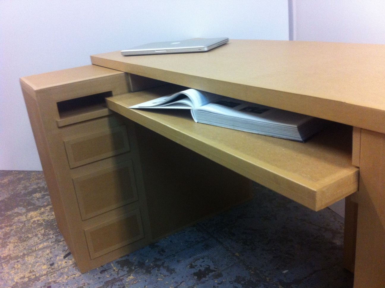 sustainable to the recyclable welcome desk environment office workstation cardboard future of