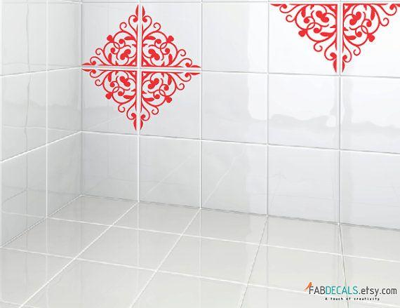 Carreaux De Vinyle Autocollants Pour 7 9x7 9 Tuiles Tuiles Decorative Tile Moroccan Pattern Tile Decals