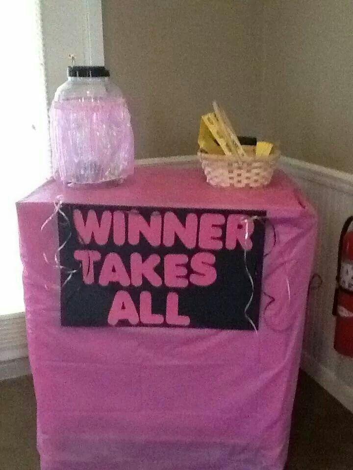 Winner Takes All Baby Shower Game | Sweet Safari Baby ...